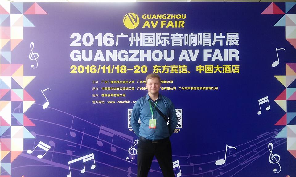 Company owner was visiting Guangzhou International AV Fair in China.