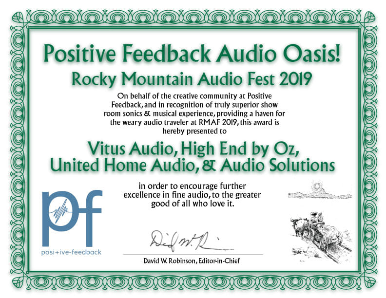 Virtuoso awarded by Positive Feedback!